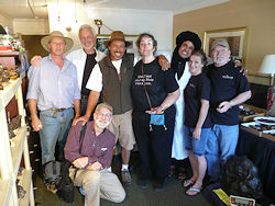 Barry, Anita, Julian and the Armstrongs with Hans, Mohammed and friends in Tucson