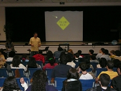 Dave teaching at East Cobb Middle School
