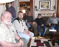 John Krebs, David Hardy, Sean Murray, John Iacullo, Jerry Armstrong and Carl Ziglin at the January 12, 2007, meeting at Anita's house