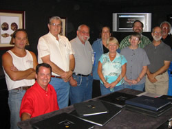 Harlan Trammell, David Hardy, Tim Cantwell, John Iacullo, Anita Westlake, Bunty Cantwell, Martha Brown, Carl Ziglin, Julian Gray and Barry Gheesling at the 2nd MAG meeting on 10/6/2007
