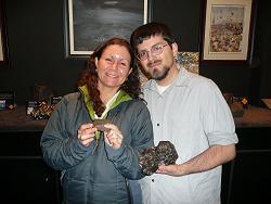 Noah and Rhonda Daleo, new MAG members, visit the Falling Rocks collection