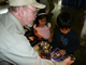 Jerry Armstrong teaching some attentive kids the finer points of Meteorites 101